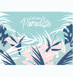 Tropical jungle summer of different vector
