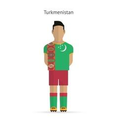 Turkmenistan football player Soccer uniform vector