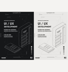 User experience interface in e-commerce vector