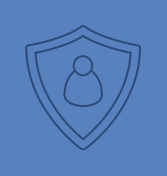 User security linear icon vector