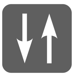 Vertical Exchange Arrows Flat Squared Icon vector