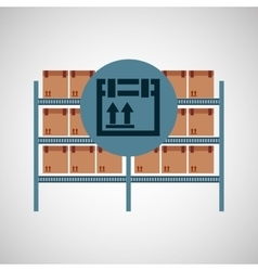 Warehouse box fragile icon vector