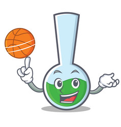 With basketball tube laboratory character cartoon vector