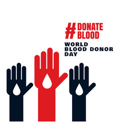 world blood donor day unite concept background vector image