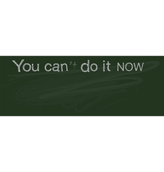 You can do it now banner vector image