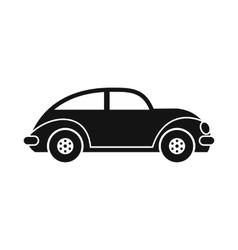 Car icon black image vector image