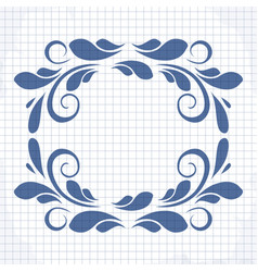 cute frame with a pattern vector image