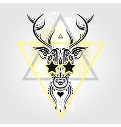 Deer head tribal pattern vector