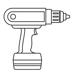 Electric screwdriver drill icon outline vector