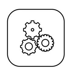 figure symbol gears icon vector image vector image