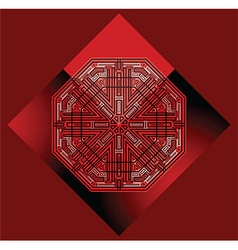 futuristic red background vector image