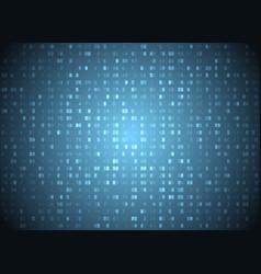 hexadecimal code blue background big data vector image