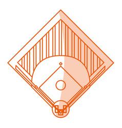 Monocromatic baseball field design vector