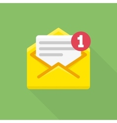 Concept of email notification icon vector image vector image