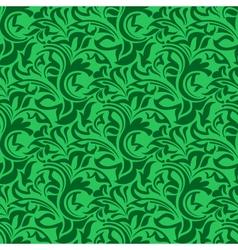 green seamless wallpaper vector image vector image