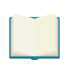 open book notebook icone vector image vector image