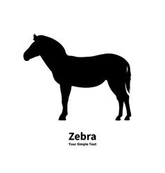 silhouette of zebra vector image vector image
