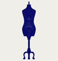 Tailors mannequin vector image vector image
