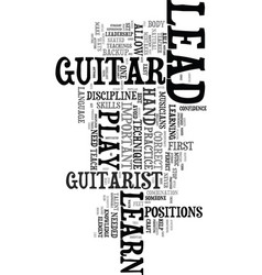 you can learn to play lead guitar text word cloud vector image