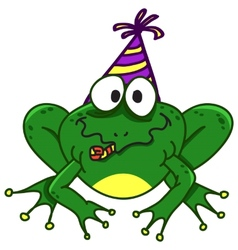 a smiling frog EPS10 vector image