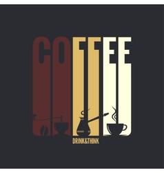 coffee label design background vector image vector image