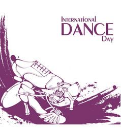 dance day ballroom latina shoes vector image