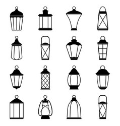 set of lantern icons vector image vector image