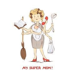 Super mom vector