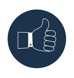 Thumb up symbol finger up icon vector