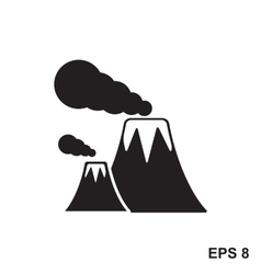 Volcano icon isolated vector