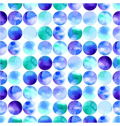 watercolor seamless pattern of circles vector image