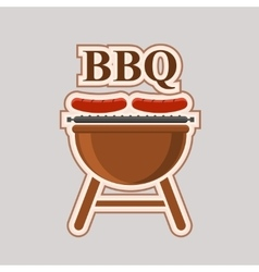 Barbecue party element poster vector image vector image
