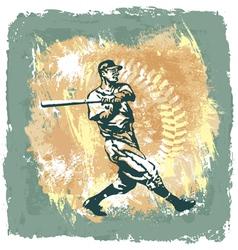 baseball classic abstract vector image vector image