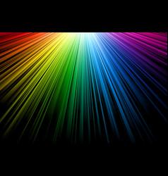 bright multicolor rays vector image vector image