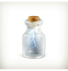 Lightning in a bottle icon vector image