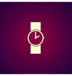 Wristwatch icon Flat design style vector image vector image