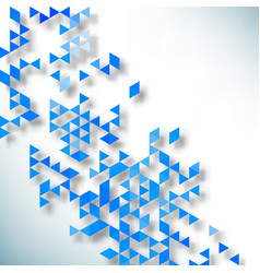 abstract background made up blue triangular vector image