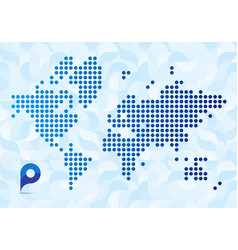 abstract map world vector image