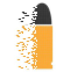 Ammo bullet dust pixel icon vector
