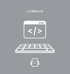 application for dos - flat minimal icon vector image