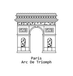 Arc de triomphe triumphal in paris france vector
