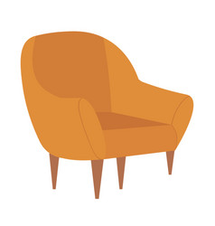 armchair comfortable furniture for home interior vector image