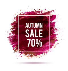 autumn-sale-pink vector image