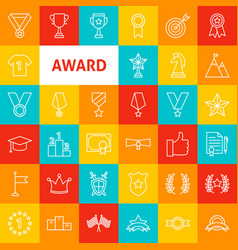 award line icons vector image