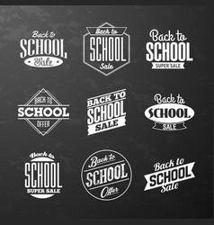 back to school sale vintage style calligraphic vector image