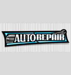Banner for auto repair vector