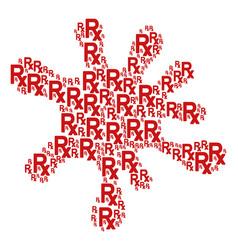 Blot figure of rx symbol icons vector
