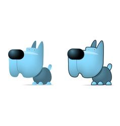 Blue dog vector