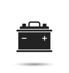 car battery flat icon on white background auto vector image
