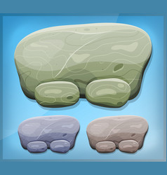 cartoon stone sign for ui game vector image